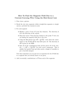 How To Find the Magnetic Field Due to a Current