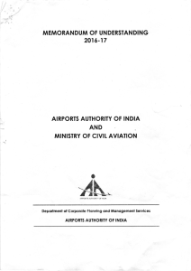 MoU 2016-17 - Airports Authority of India