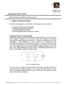 Application Note 5438: Electrical Noise in