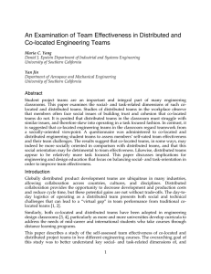 An Examination of Team Effectiveness in Distributed and Co