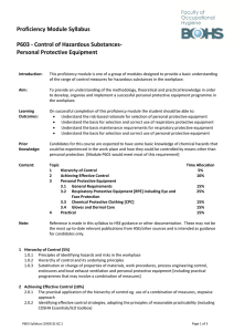 Proficiency Module Syllabus P603