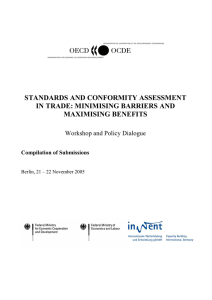 standards and conformity assessment in trade