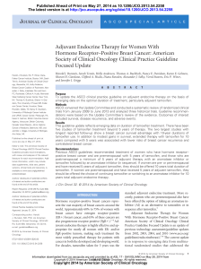 Adjuvant Endocrine Therapy for Women With Hormone Receptor