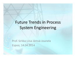 Future Trends in Process System Engineering