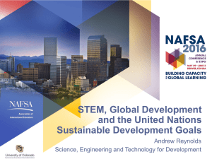 STEM, Global Development and the United Nations