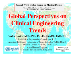Global Perspectives on Clinical Engineering Trends