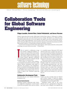 Collaboration Tools for Global Software Engineering