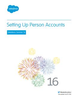 Setting Up Person Accounts