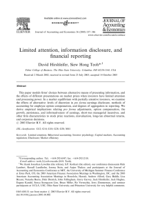 Limited attention, information disclosure, and financial