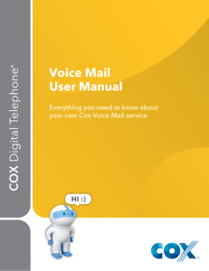 Voice Mail User Manual