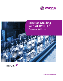 Injection Molding with ACRYLITE