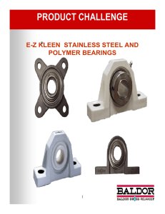E-Z KLEEN Stainless Steel and Polymer Bearings