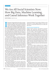We Are All Social Scientists Now: How Big Data, Machine Learning