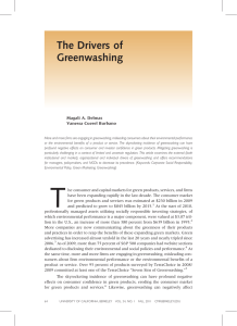 The Drivers of Greenwashing