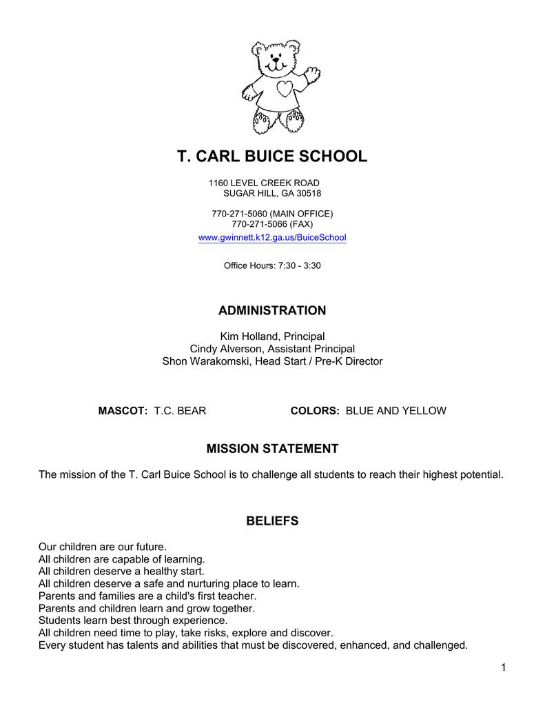 t  carl buice school - Gwinnett County Public Schools