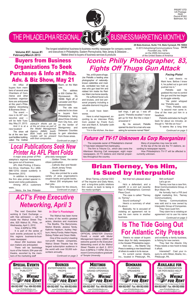 February / March 2013 - Advertising/Communications Times