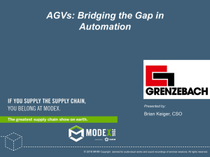 AGVs: Bridging the Gap in Automation