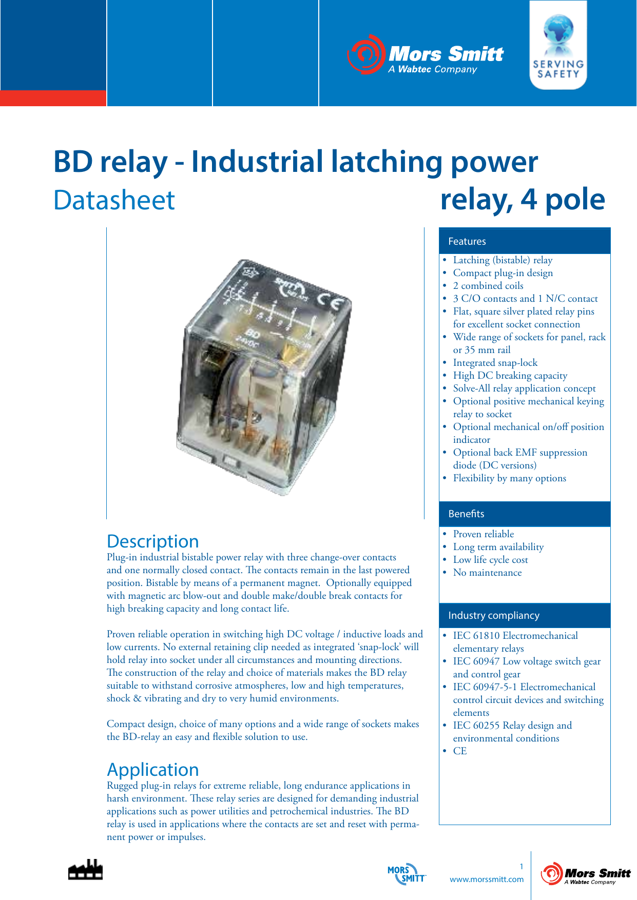 BD Relay Industrial Latching Power Relay  Pole - Normally open relay vs normally closed relay