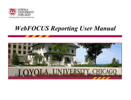WebFOCUS Reporting User Manual