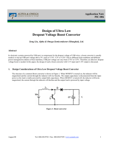 Design of Ultra Low Dropout Voltage Boost Converter