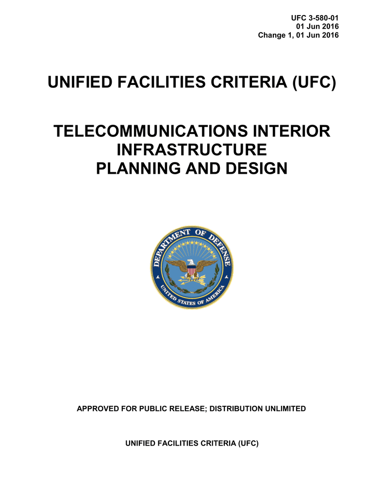Ufc 3 580 01 The Whole Building Design Guide T568a And T568b Wiring Standards Besides Rj45 Crossover Cable Diagram