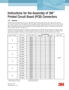 Instructions for the Assembly of 3M™ Printed Circuit Board (PCB