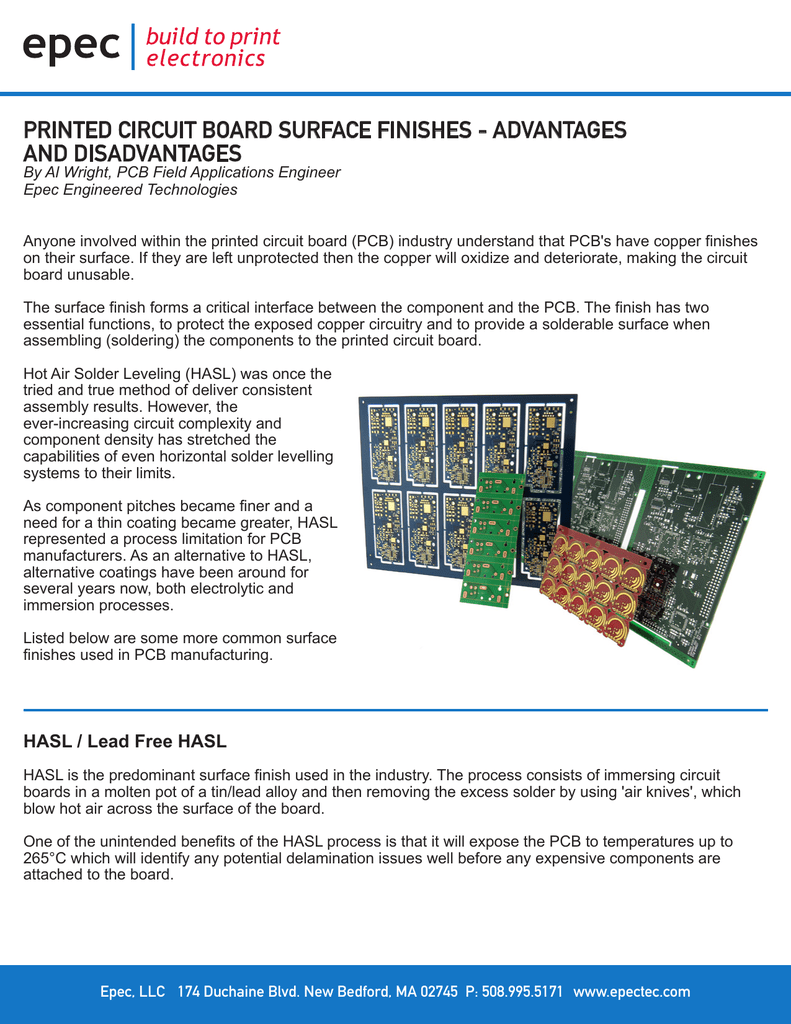 Printed Circuit Board Surface Finishes Advantages And Boardpcb Mass Production Product On