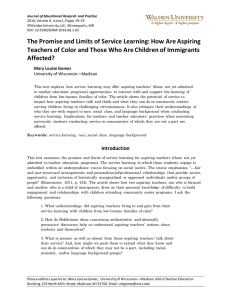 The Promise and Limits of Service Learning for