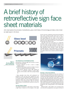 A brief history of retroreflective sign face sheet materials