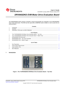 DRV8402DKD EVM Motor Drive Evaluation Board