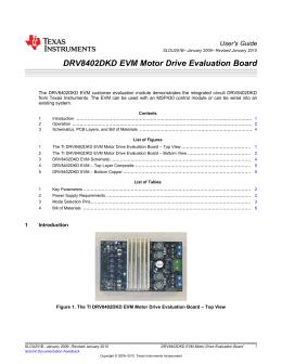 DRV8402DKD EVM Motor Drive Evaluation Board