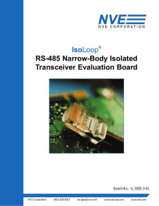 the Isolated RS-485 Narrow-Body Eval Board