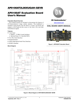 EVBUM2314 - AP0100AT Evaluation Board User`s Manual