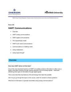 HART Communications - Emerson Process Management