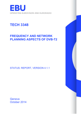 tech 3348 frequency and network planning aspects of dvb-t2