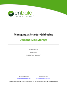 Managing a Smarter Grid using Demand