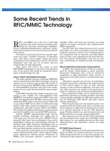 Some Recent Trends in RFIC/MMIC Technology