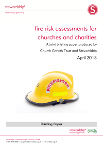Fire risk assessments for churches and charities