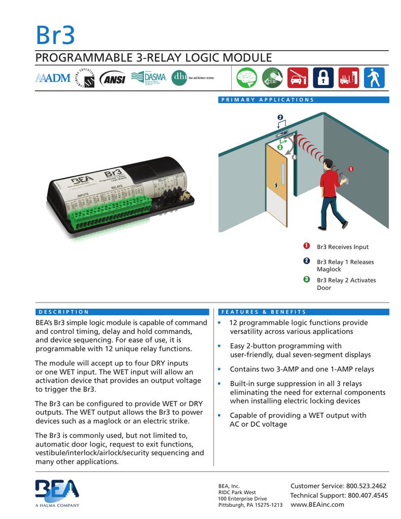 Programmable 3 Relay Logic Module Bea Maglock Wiring Diagram