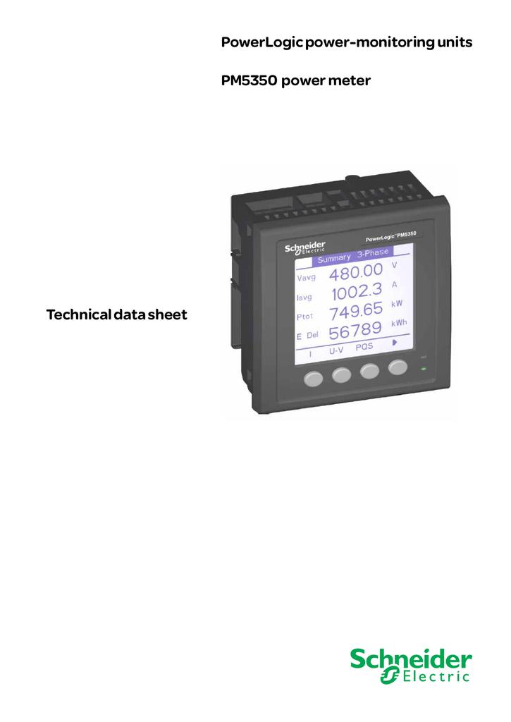 powerlogic power monitoring units pm5350 power meter technical rh studylib net CT Meter Wiring Diagram 4S CT Wiring Diagrams