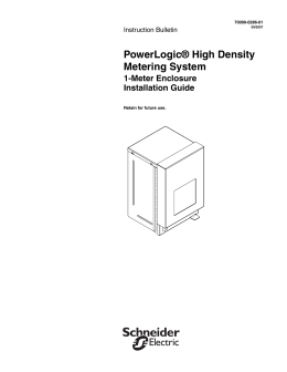 powerlogic ® high density metering system 4 hdm 1 meter enclosure book