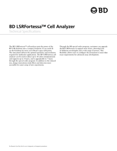 BD LSRFortessa™ Cell Analyzer Technical Specifications