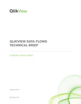 QLIKVIEW DATA FLOWS TECHNICAL BRIEF