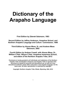 Dictionary of the Arapaho Language