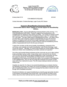 August Breastfeeding Awareness Press Release