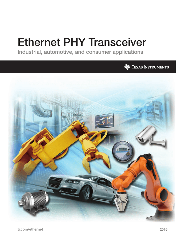 Ethernet PHY Transceiver Reference Guide