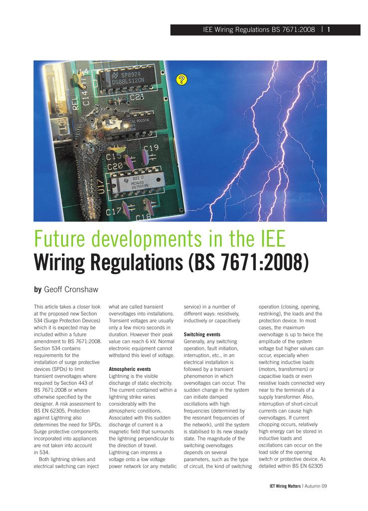 Strange Future Developments In The Iee Wiring Regulations Wiring 101 Ariotwise Assnl