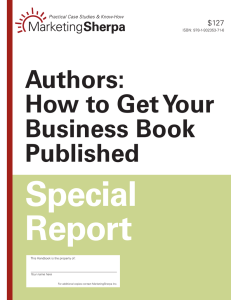 Authors: How to Get Your Business Book Published