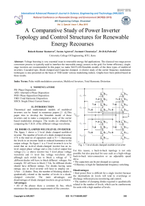 A Comparative Study of Power Inverter Topology and Control