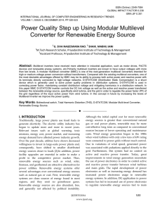 Power Quality Step up Using Modular Multilevel Converter